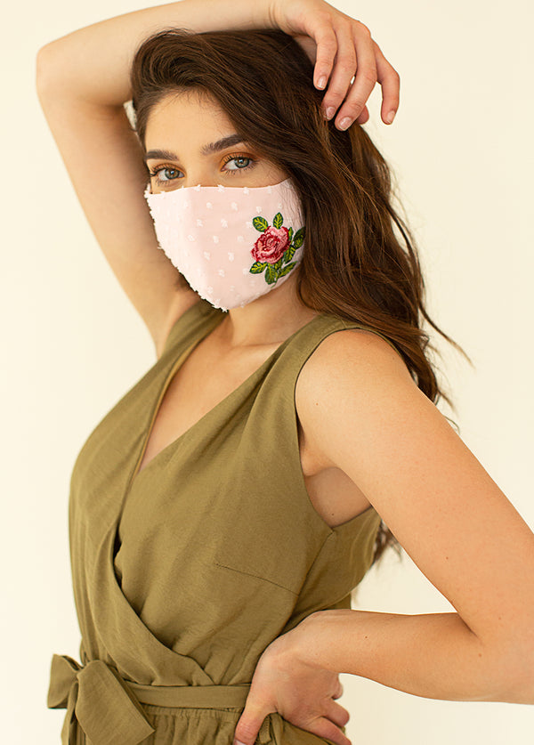Women's Rosella Mask in Peach