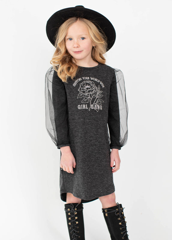 *NEW* Britt Dress in Heather Charcoal