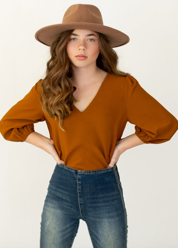 Jemila Top in Burnt Orange