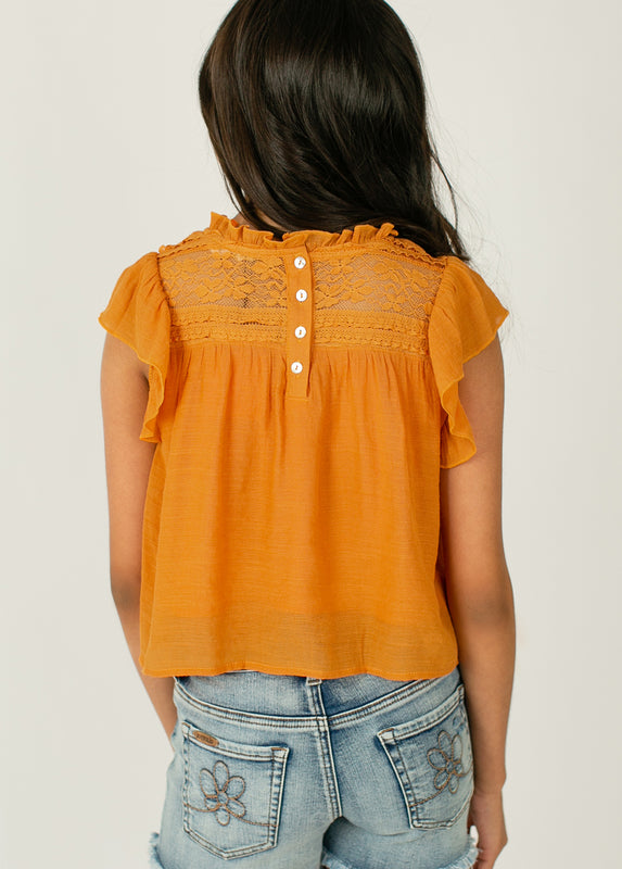 *NEW* Caroline Top in Apricot