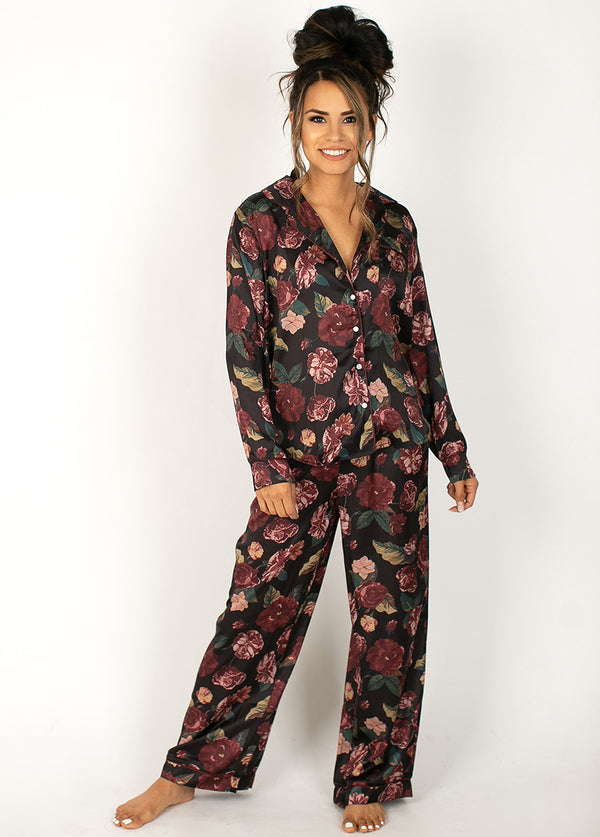 Shaniah Pajamas in Dark Floral