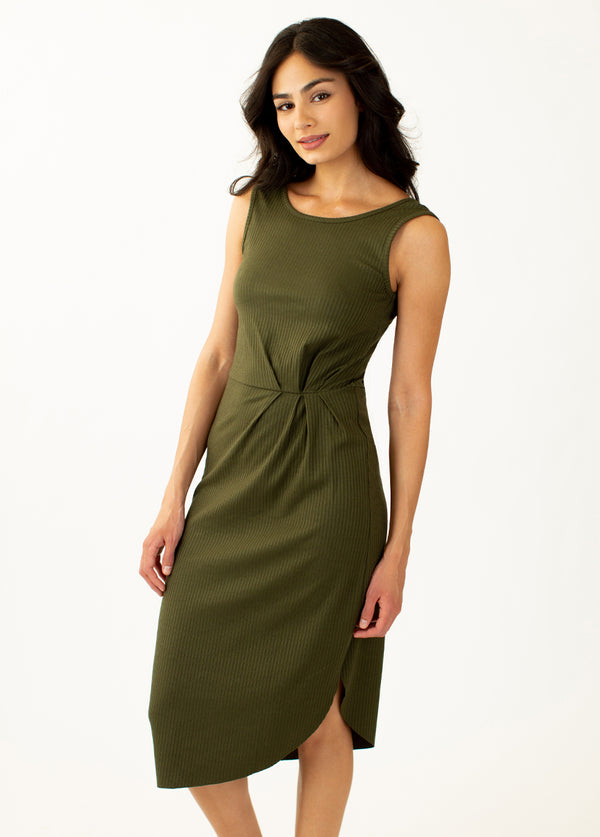 *NEW* Gianna Dress in Dark Olive