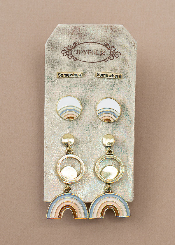 *NEW* Somewhere Stud Set in Antique Brass