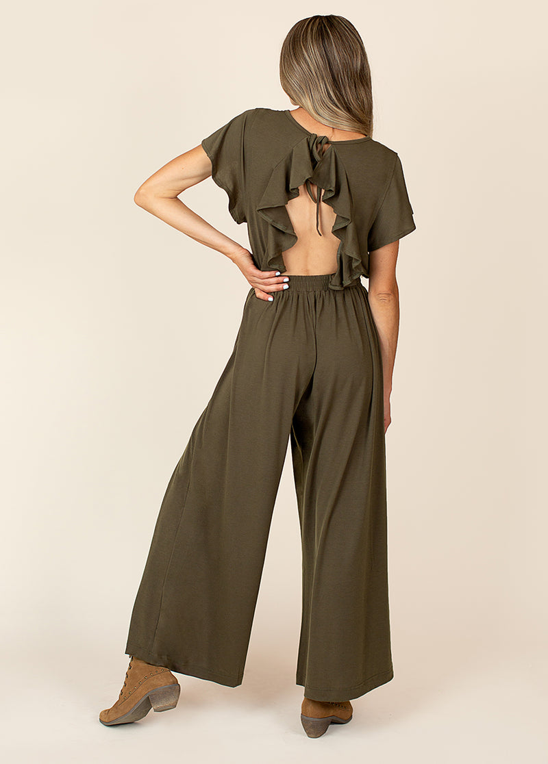 Starlie Jumpsuit in Olive