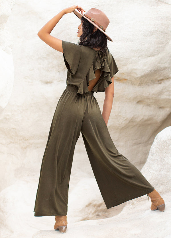 *NEW* Starlie Jumpsuit in Olive