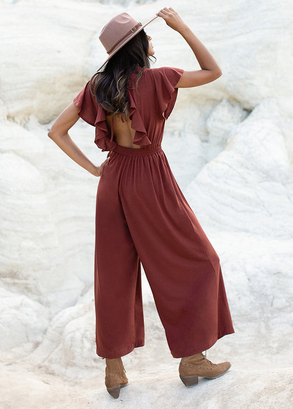 *NEW* Starlie Jumpsuit in Rust Raisin
