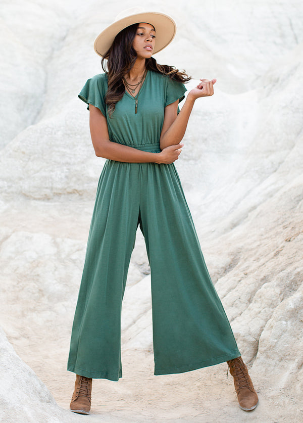 *NEW* Starlie Jumpsuit in Marine Green