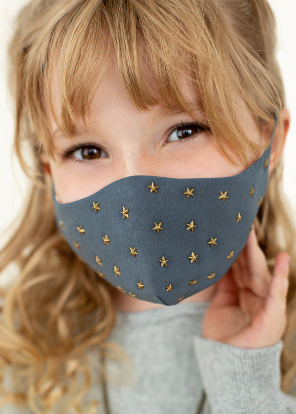 *NEW* Star Studded Mask in Charcoal