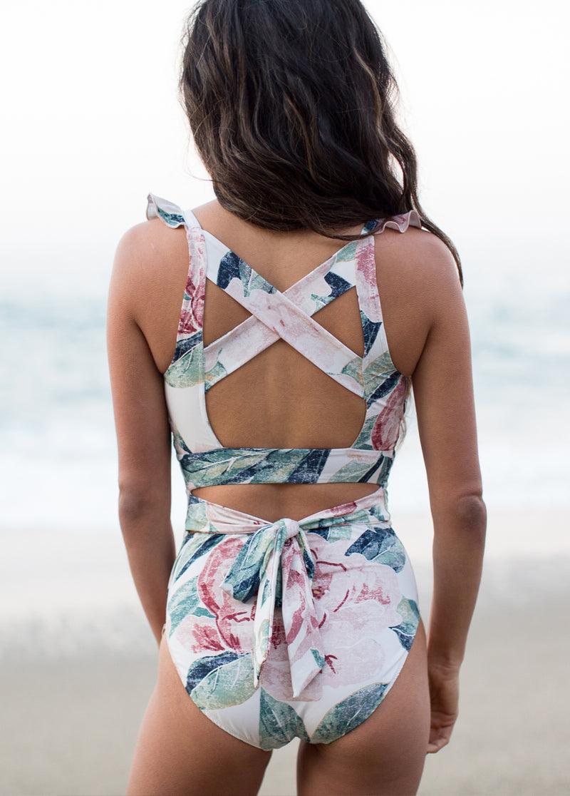 *NEW* Taryn Swimsuit in Sage Multi Floral