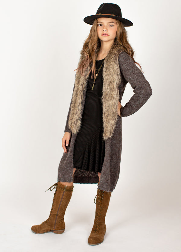 Tillie Duster in Charcoal