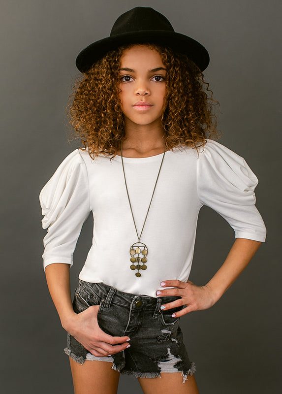 *NEW* Toots Top in White