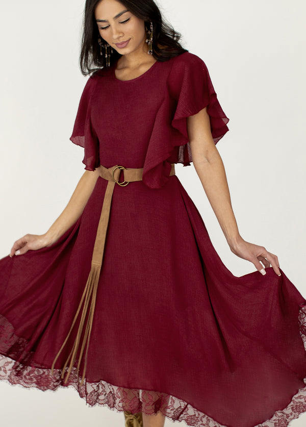 *NEW* Lakynn Dress in Garnet