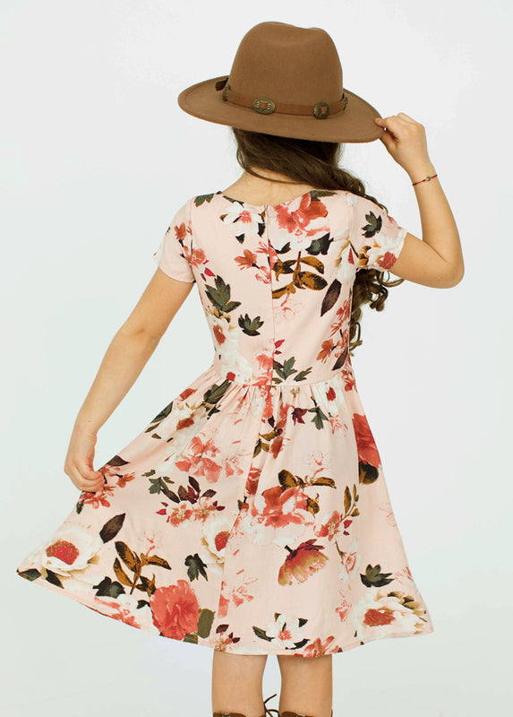 *NEW* Allyza Dress in Dusty Pink Spring Floral