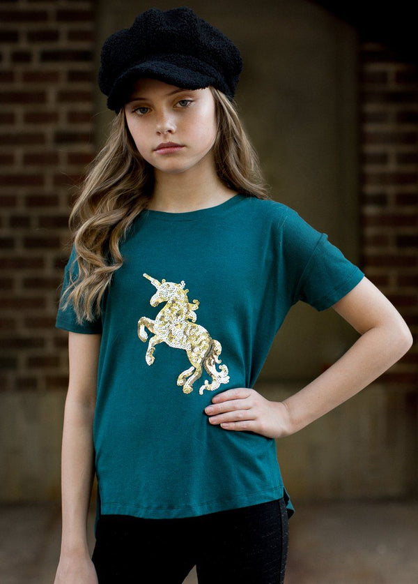 *NEW* Unicorn Tee in Pacific