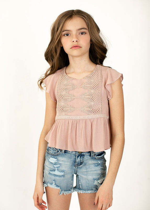 *NEW* Vicki Top in Rose Dust