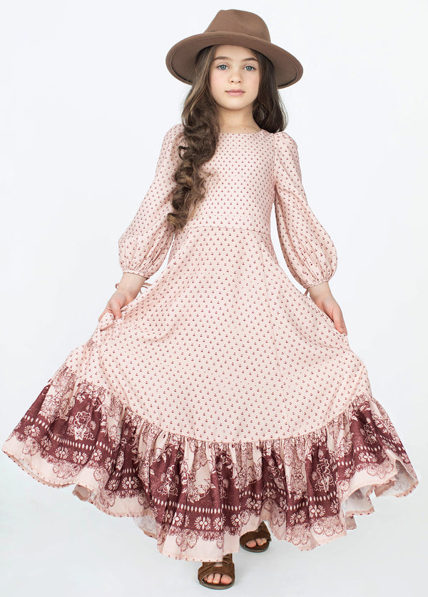*NEW* Adelina Dress in Rose Smoke Print