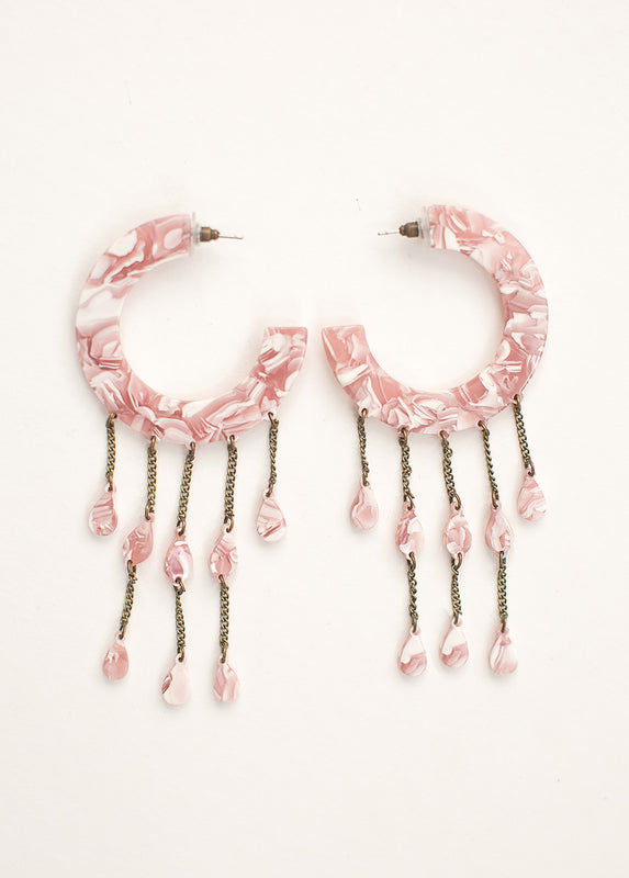 *NEW* Vickey Earrings in Pink Marble