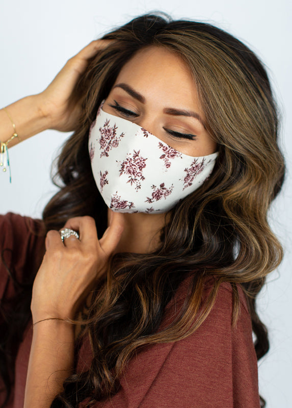 Women's Boho Mask Set in Dusty Pink