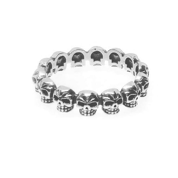 Sterling Silver Skull Band Ring
