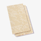 White guest towel napkin with gold abstract pattern