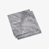 Gray and purple cocktail napkin with abstract pattern