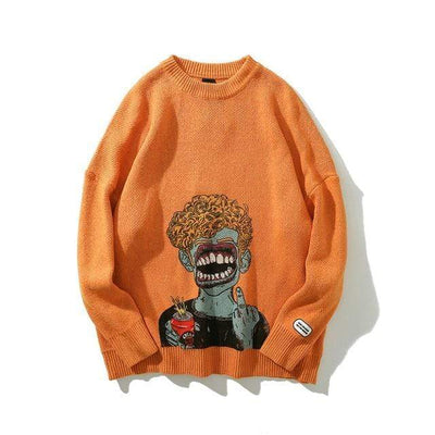 ZavanaStreet Sweats F**k Orange / XL