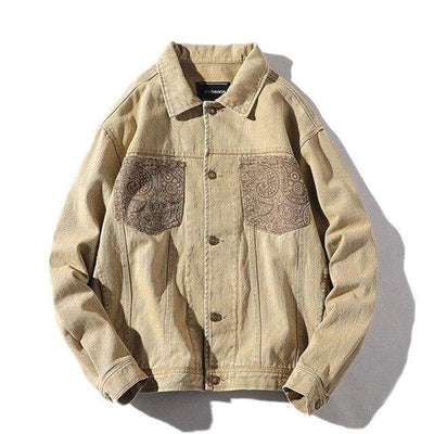 ZavanaStreet Veste Leather Beige / S