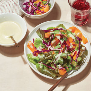 Simple Greens with Pickled Vegetables