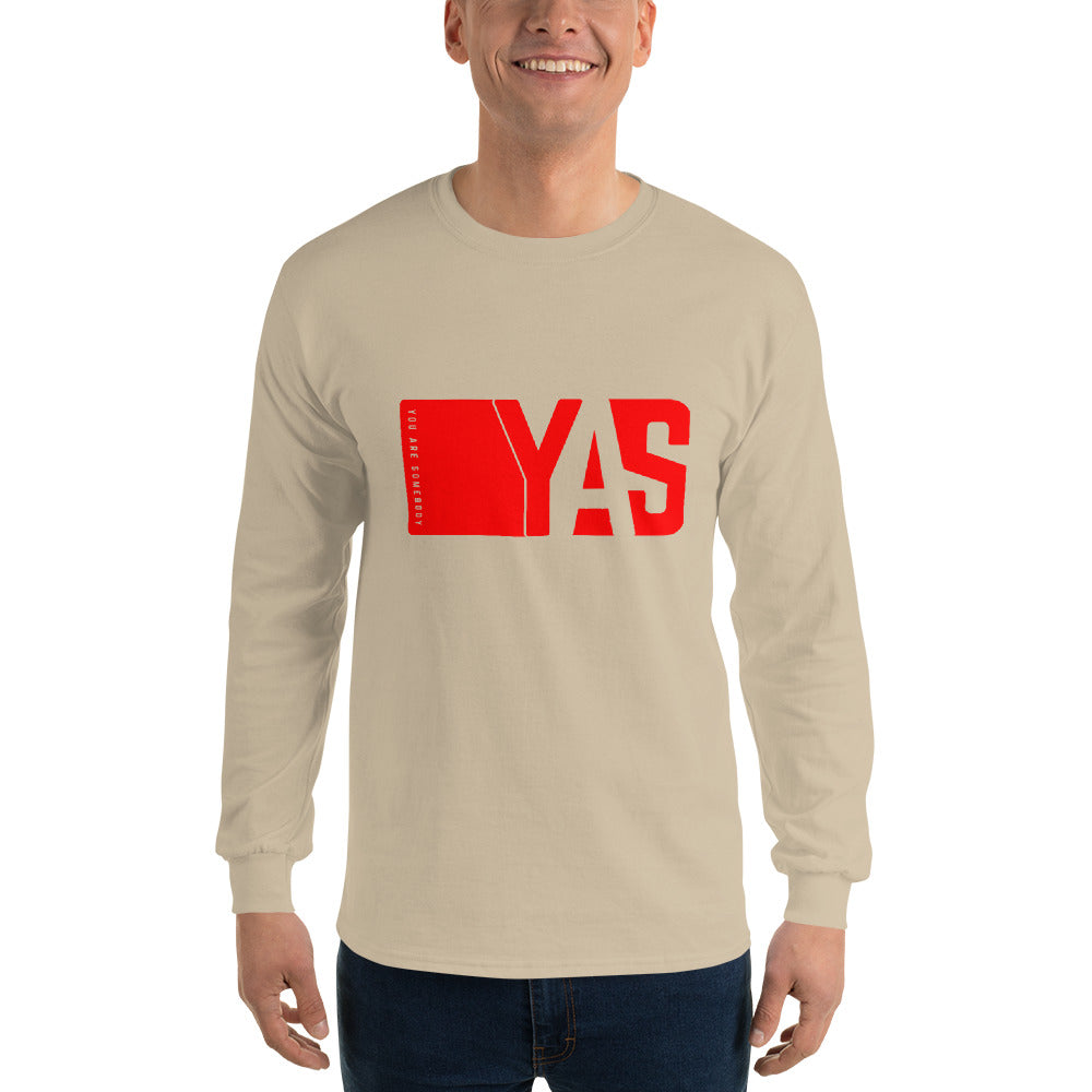 Men's Long Sleeve Shirt | Yas Movement Red