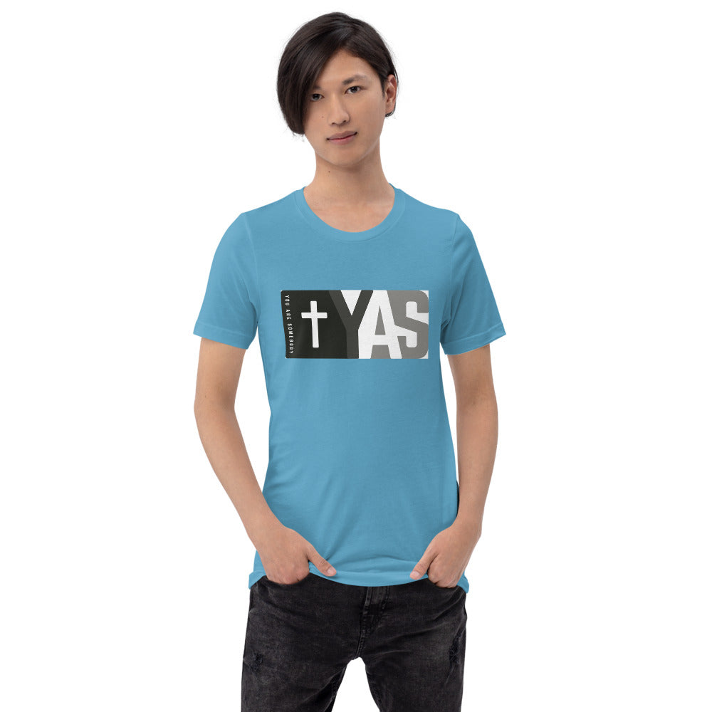 Short-Sleeve Unisex T-Shirt | Black & White Yas Movement