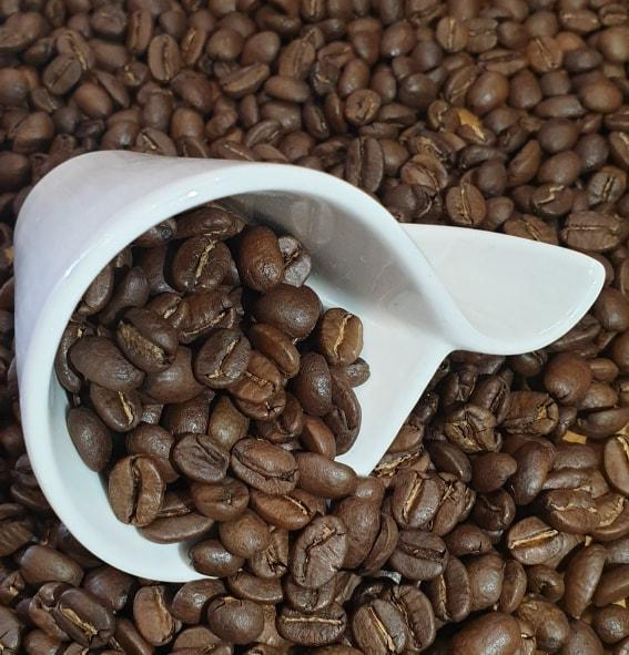 Whole or ground coffee beans