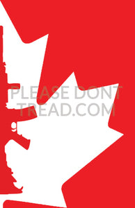 AR-15 MAPLE LEAF - Vinyl Sticker