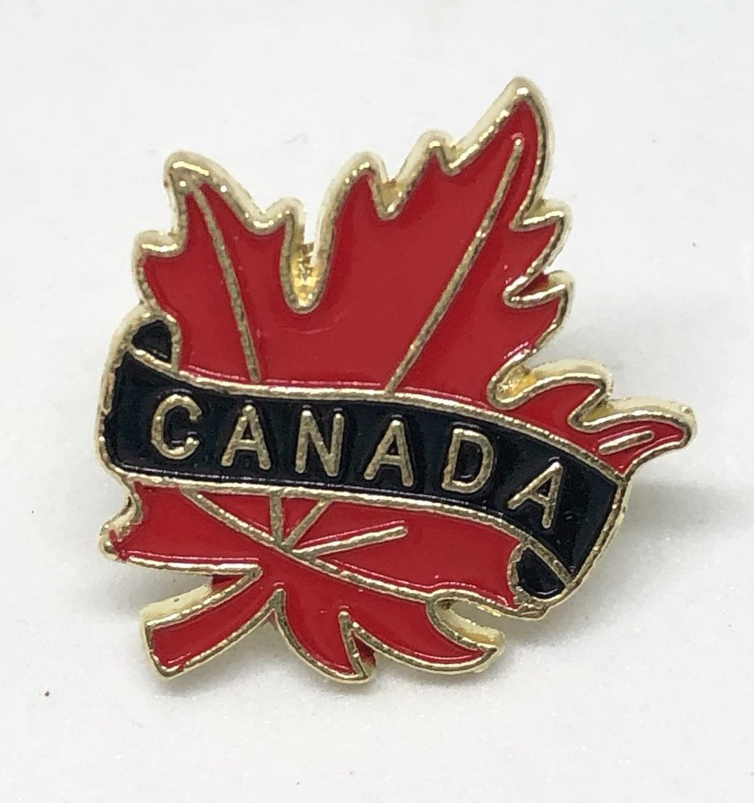 Brass Canadian Maple Leaf Pin