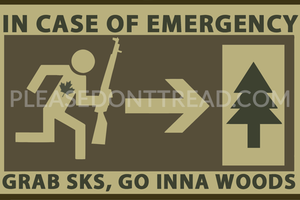 GRAB SKS, GO INNA WOODS - Vinyl Sticker