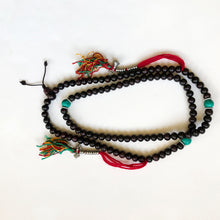 Load image into Gallery viewer, Rosewood Mala w/ turquoise beads and counter