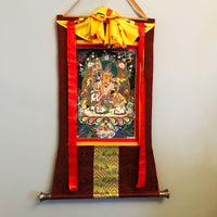 Vaishravana Embroidered Thangka (Jambhala)