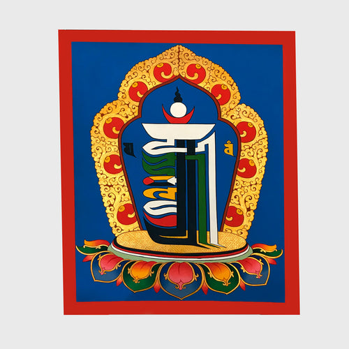 Kalachakra Ten-Fold Powerful Symbol Thangka
