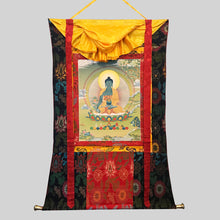Load image into Gallery viewer, Hand-painted Medicine Buddha Thangka