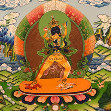 Load image into Gallery viewer, Hand-painted Innate Kalachakra Thangka