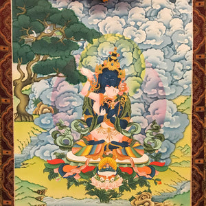 Hand-painted Vajradhara Yab-Yum Thangka