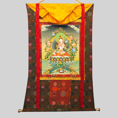 Hand-painted White Tara Thangka