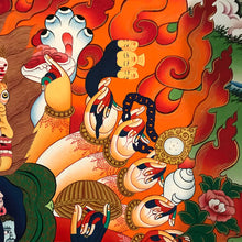 Load image into Gallery viewer, Hand-painted Vajra Vega Thangka (Wrathful Kalachakra)
