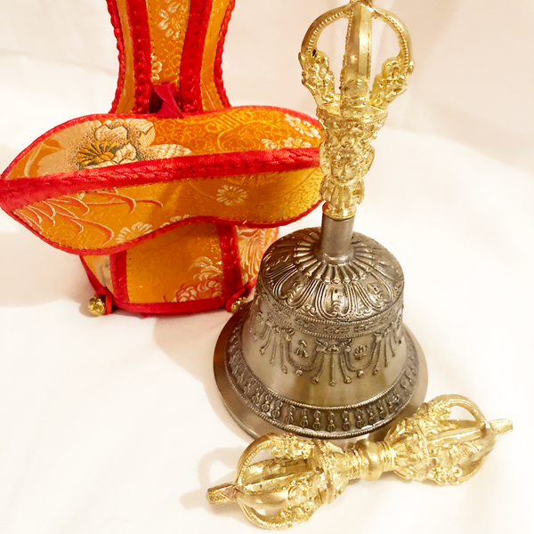 Vajra & Bell with Brocade Case