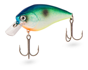 A crankbait lure that was custom painted in the USA.