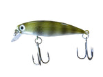 This minnow fishing lure is in spotted tilapia. This bait was custom painted in the USA by Gill Reaper Lures.