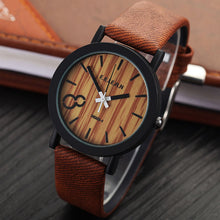 Wooden Relojes Quartz Men elegant