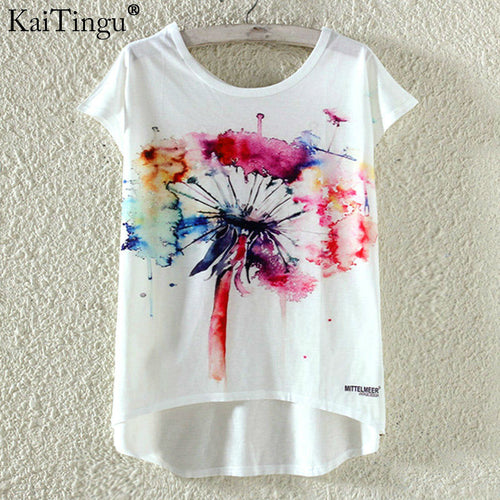 Fashion Summer Kawaii Cute Women T Shirt Print