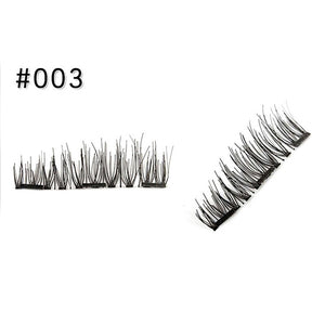 3D Magnetic Eyelashes Lashes Handmade No Glue Makeup Kit 4pcs