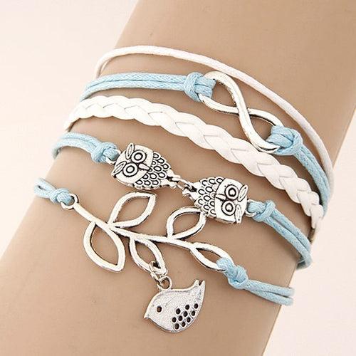 Multilayer Charm Leather Bracelet