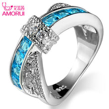 Silver Plated Bowknot CZ Stone Rings for Women Jewelry